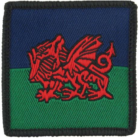 Mercian Regiment - 1st Bn Tactical Recognition Flash Cerise Eagle On Buff  Woven Regimental cloth arm badge