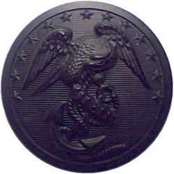 United States Marine Corps 26mm - Black  Plastic Military uniform button