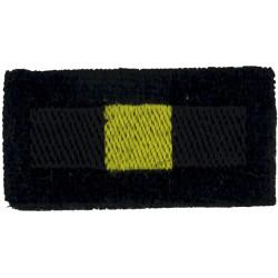 Royal Anglian Regiment: 2nd Battalion Black/ Amber/ Black  Embroidered Regimental cloth arm badge