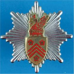Glamorgan Fire Brigade Cap Badge Pre-1974  Chrome, gilt and enamel Fire and Rescue Service insignia