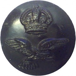 Royal Air Force 17.5mm - Black with King's Crown. Plastic Military uniform button
