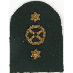 Royal Marines Steering Wheel + 2 Stars: Driver Trade: Gold On Lovat  Bullion wire-embroidered Marines or Commando insignia