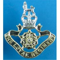 Loyal Regiment (North Lancashire) FL - Post-1957 with Queen Elizabeth's Crown. Anodised Staybrite collar badge