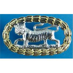 Royal Anglian Regiment - 4th Battalion - Pre-1975 FL - Tiger In Wreath  Anodised Staybrite collar badge