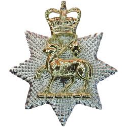 Queen's Royal Surrey Regiment (Lamb On Star) FL - 1959-1966 with Queen Elizabeth's Crown. Anodised Staybrite collar badge