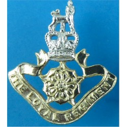 Loyal Regiment (North Lancashire) FR - Post-1957 with Queen Elizabeth's Crown. Anodised Staybrite collar badge