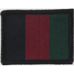 Mercian Regiment - Glider On Stafford Knot On Black Back-Cloth  Bullion wire-embroidered Regimental cloth arm badge