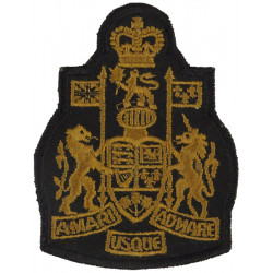 Chief Warrant Officer - Canadian Army Brown On Black with Queen Elizabeth's Crown. Embroidered Warrant Officer rank badge