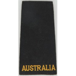 Royal Australian Navy Slip-On Yellow On Black  Embroidered Naval Branch, rank or miscellaneous insignia