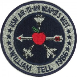 USAF Air-To-Air Weapons Meet - William Tell 1986 Flying Suit Badge  Embroidered United States Air Force insignia