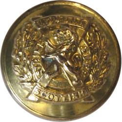 14th London Regiment (London Scottish) 19mm  Brass Military uniform button