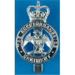 Buckinghamshire Regiment Swan - 1969-1971 with Queen Elizabeth's Crown. Anodised Staybrite army cap badge