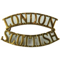 London/ Scottish (14th London Regt (London Scottish) Post-1915  Brass Army metal shoulder title