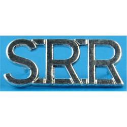 SRR (Special Reconnaissance Regiment)   Silver-plated Army metal shoulder title