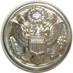 United States Army Button 17mm - Gold Colour  Anodised Staybrite military uniform button