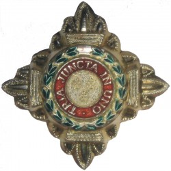 Officer's Rank Star (Pip) - 19mm Side - Enamelled Gold Colour  Anodised and enamel Officer rank badge