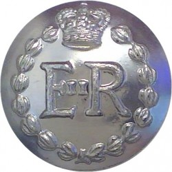 Royal Military Police - Officers' 14.5mm Silver Colour with Queen Elizabeth's Crown. Anodised Staybrite military uniform button