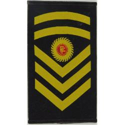 Irish Naval Service Senior Chief Petty Officer Rank Slide  Woven Naval Branch, rank or miscellaneous insignia