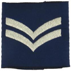 Corporal - RAF Slip-On Rank Badge  Woven Air Force Rank Badge
