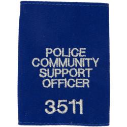 Police / Community / Support / Officer / 3511 Shoulder Slide  Embroidered UK Police or Prison insignia