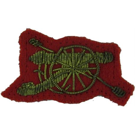 Royal Artillery SNCO's Gun FL Brass Regimental metal arm badge