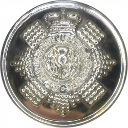 Scots Guards 25.5mm - Gold Colour with Queen Elizabeth's Crown. Anodised Staybrite military uniform button