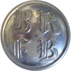 Berkshire And Reading Fire Brigade 24.5mm - 1948-1974  Chrome-plated Fire Service uniform button