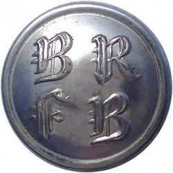 Berkshire And Reading Fire Brigade 16.5mm - 1948-1974  Chrome-plated Fire Service uniform button