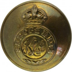 King's Shropshire Light Infantry - Rimmed 19.5mm - Pre-C.1946 with King's Crown. Brass Military uniform button