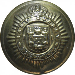 East Surrey Regiment 19mm - 1902-1952 with King's Crown. Brass Military uniform button