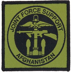 Joint Force Support Afghanistan - Combined Ops Logo Black On Olive  Woven Military Formation arm badge