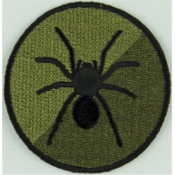 Royal Artillery:5 Regiment (Yorkshire Gunners) ISTAR Black Spider / Olive  Embroidered Regimental cloth arm badge