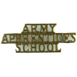 Army / Apprentices / School   Brass Army metal shoulder title