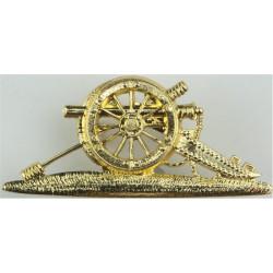 Royal Artillery SNCO's Gun FL  Anodised Regimental metal arm badge