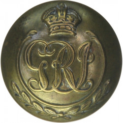 Indian Army (Unattached Officers) - GRI In Wreath 19mm - 1911-1936 with King's Crown. Brass Military uniform button