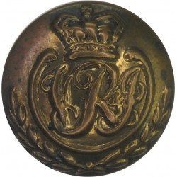 Indian Army (Unattached Officers) - VRI In Wreath 16.5mm - Pre-1901 with Queen Victoria's Crown. Brass Military uniform button