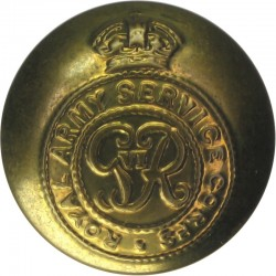 Royal Army Service Corps - GviR 19mm - 1936-1952 with King's Crown. Brass Military uniform button