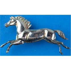 Royal Dragoon Guards NCOs Armbadge Running Horse FL  Silver-plated Regimental metal arm badge