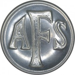 Auxiliary Fire Service (AFS) Button 24.5mm - 1938-1941  Chrome-plated Fire Service uniform button