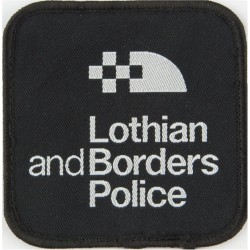 Lothian & Borders Police Pullover Badge Rounded Square Shape  Woven UK Police or Prison insignia