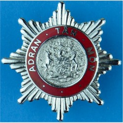 Anglesey Fire Brigade (Adran Tan Mon) Crest Centre Cap Badge - Wales  Chrome and enamelled Fire and Rescue Service insignia