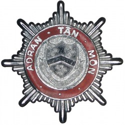 Anglesey Fire Brigade (Adran Tan Mon) Shield Centre Cap Badge - Wales  Chrome and enamelled Fire and Rescue Service insignia