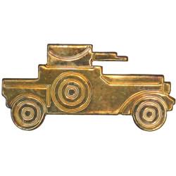 9th/12th Royal Lancers NCO's Armbadge Armoured Car  Brass Regimental metal arm badge