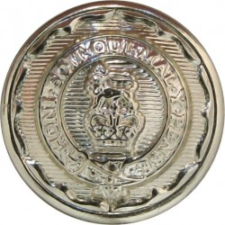 Royal Logistic Corps 14mm - Gold Colour with Queen Elizabeth's Crown. Anodised Staybrite military uniform button