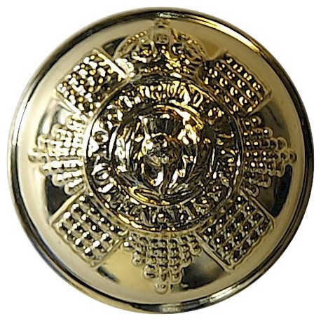 Scots Guards 25mm - Gold Colour with King's Crown. Anodised Staybrite military uniform button