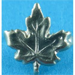 North Irish Horse Or Leeds Rifles Maple Leaf 10mm Wide  Probably Silver Regimental metal arm badge