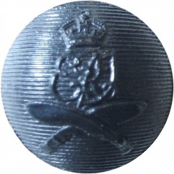 2nd King Edward VII's Own Gurkha Rifles (With Crown) 18mm Ball Button with King's Crown. Blackened Military uniform button