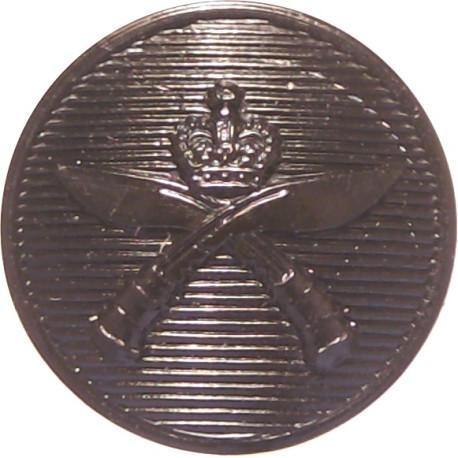 Royal Gurkha Rifles 14mm - Black with Queen Elizabeth's Crown. Plastic Military uniform button
