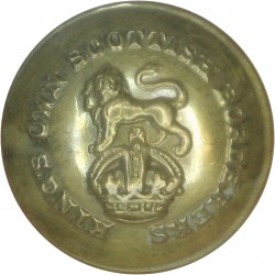 King's Own Scottish Borderers 19mm with King's Crown. Brass Military uniform button