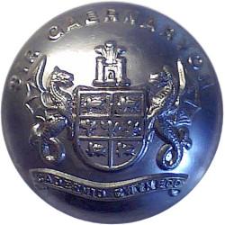 Caernarvon County Fire Service 24mm - 1948-1974  Chrome-plated Fire Service uniform button